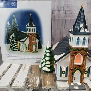 Dept 56 54640 Wedding Chapel Church Snow Village X